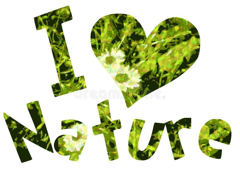 Αγαπώ τη φύση απεικόνιση αποθεμάτων