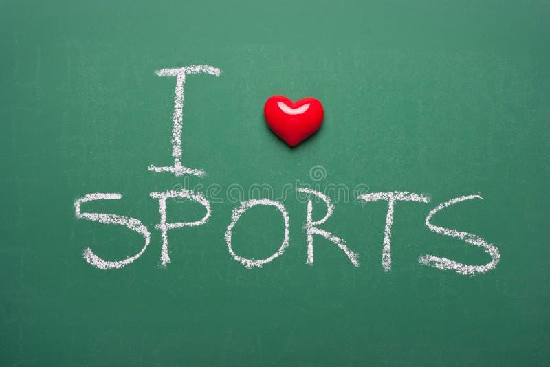 Αγαπώ τον αθλητισμό στοκ φωτογραφία με δικαίωμα ελεύθερης χρήσης