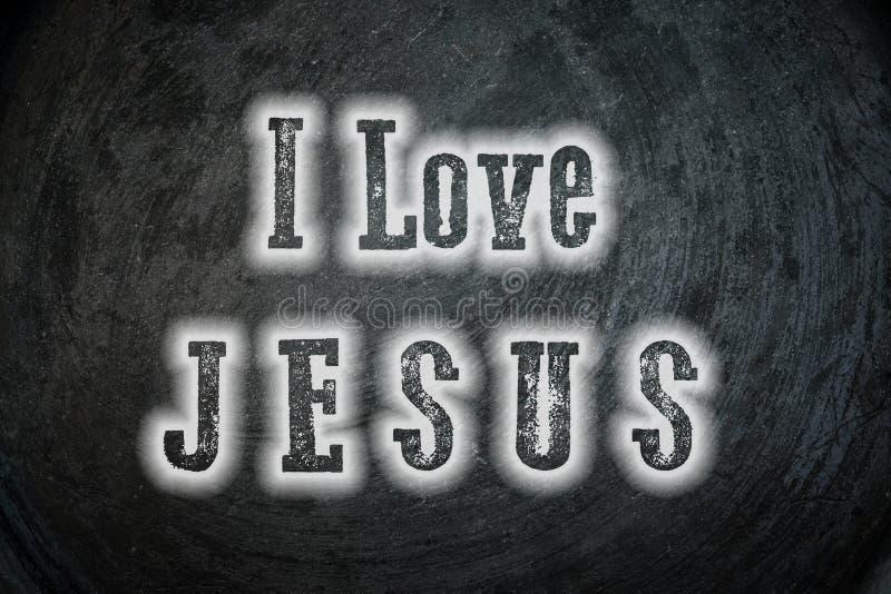 Αγαπώ τον Ιησού Concept ελεύθερη απεικόνιση δικαιώματος