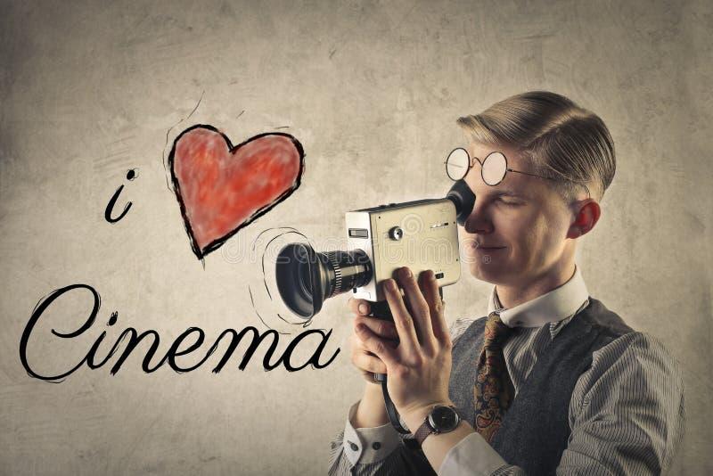 Αγαπώ τον κινηματογράφο στοκ εικόνες με δικαίωμα ελεύθερης χρήσης