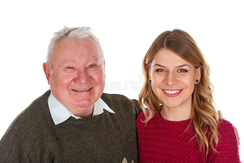 Αγαπώ τον παππού μου στοκ εικόνες