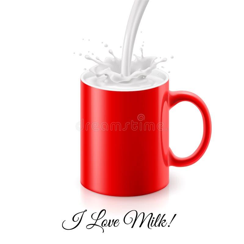 αγαπώ το γάλα απεικόνιση αποθεμάτων