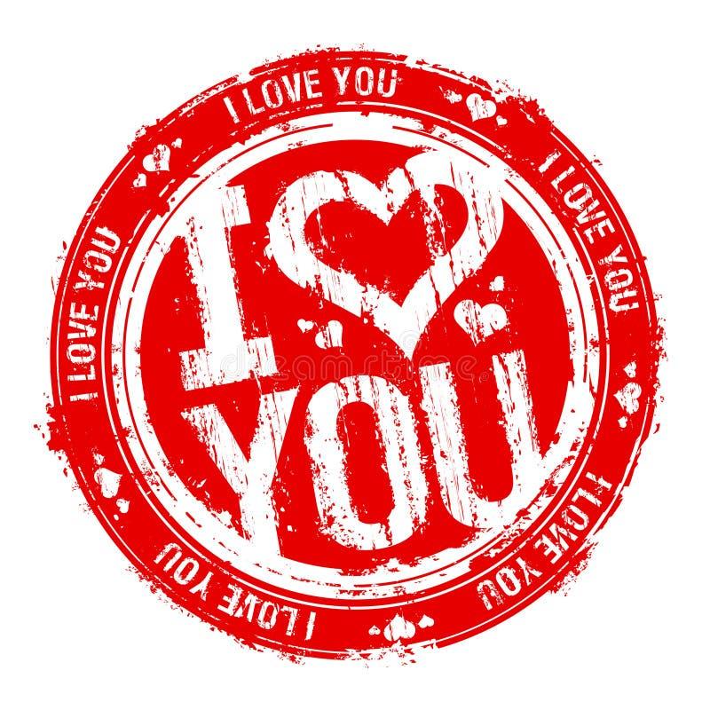 αγαπώ το γραμματόσημο εσ&epsi ελεύθερη απεικόνιση δικαιώματος