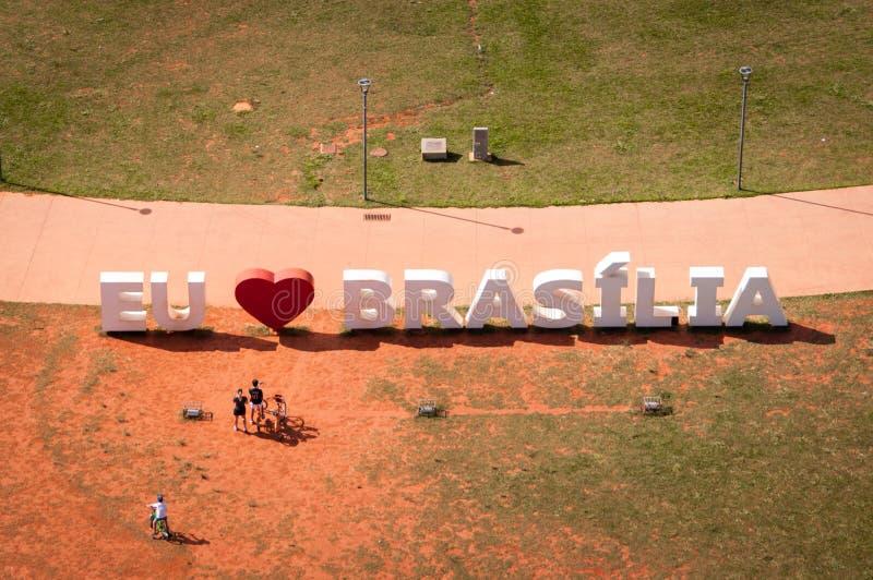 Αγαπώ το μνημείο της Μπραζίλια στοκ εικόνα με δικαίωμα ελεύθερης χρήσης