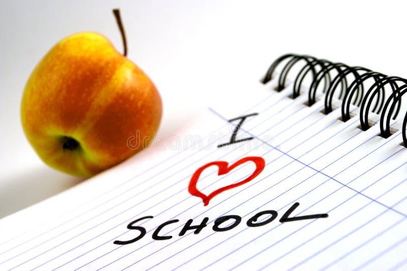 Download αγαπώ το σχολείο στοκ εικόνες. εικόνα από μελέτη, τάξη, εργασία - 55314