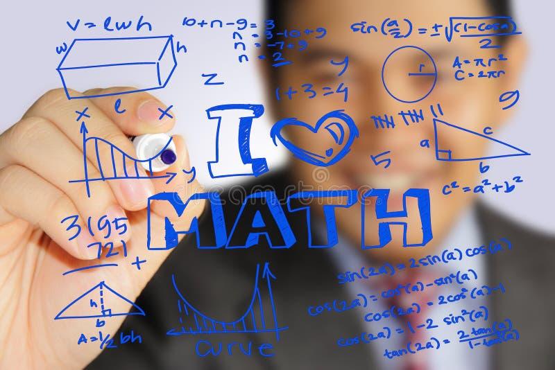Αγαπώ Math στοκ εικόνα
