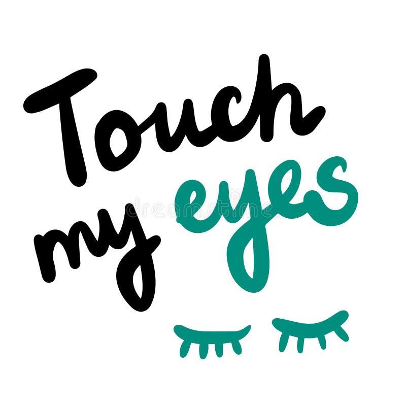 Αγγίξτε συρμένη τη χέρι εγγραφή ματιών μου με τα χαριτωμένα μαστίγια απεικόνισης ελεύθερη απεικόνιση δικαιώματος