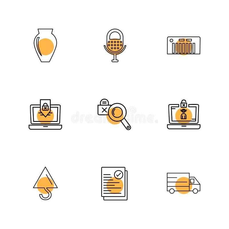 αγγείο, μικρόφωνο, γερανός, φορτηγό, lap-top, Διαδίκτυο, technolo ελεύθερη απεικόνιση δικαιώματος