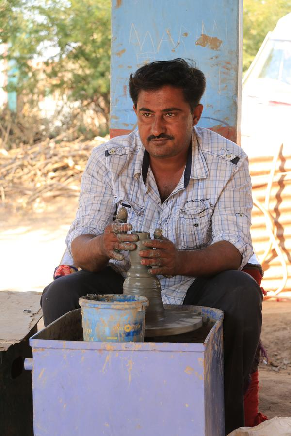 Αγγειοπλάστης Gujarati στοκ εικόνες