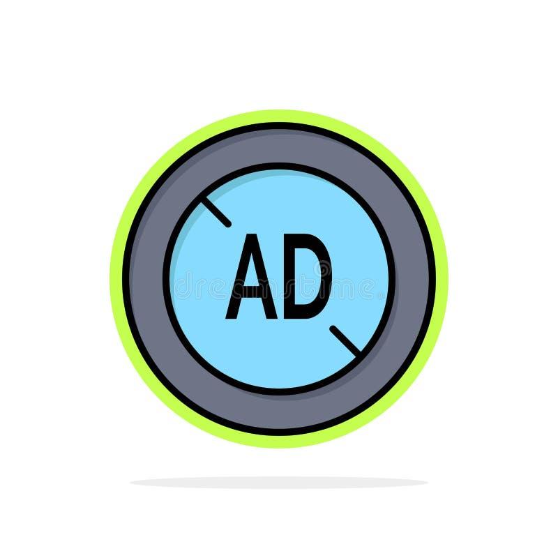Αγγελία, Blocker, Blocker αγγελιών, ψηφιακό αφηρημένο κύκλων εικονίδιο χρώματος υποβάθρου επίπεδο ελεύθερη απεικόνιση δικαιώματος
