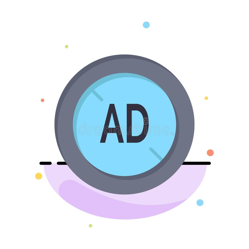 Αγγελία, Blocker, Blocker αγγελιών, ψηφιακό πρότυπο επιχειρησιακών λογότυπων Επίπεδο χρώμα απεικόνιση αποθεμάτων