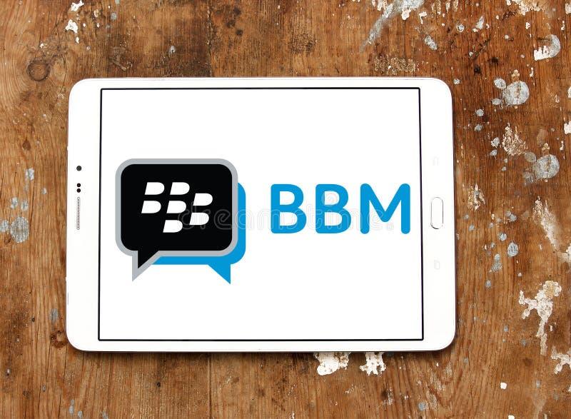 Αγγελιοφόρος του Blackberry, BBM, λογότυπο στοκ εικόνα με δικαίωμα ελεύθερης χρήσης