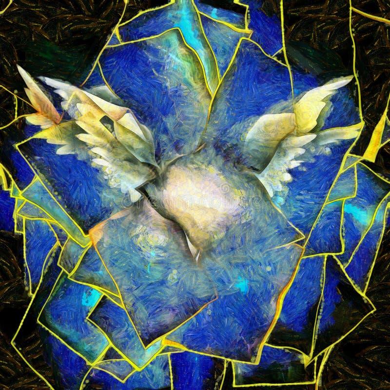Αγγελική αφαίρεση φτερών ελεύθερη απεικόνιση δικαιώματος