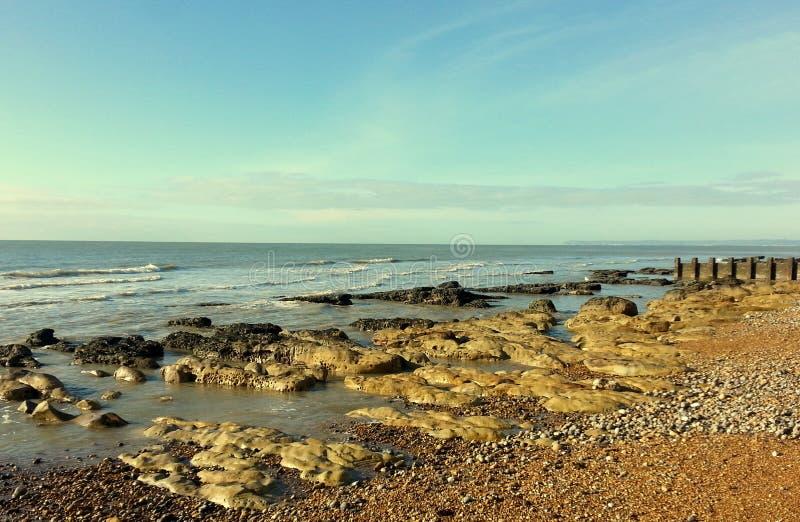 Αγγλία, Hastings, παραλία στοκ φωτογραφία