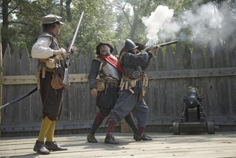 Αγγλικοί στρατιώτες reenactor στοκ φωτογραφία με δικαίωμα ελεύθερης χρήσης