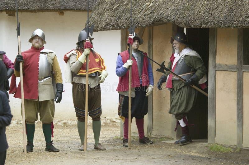Αγγλικοί στρατιώτες reenactor στοκ φωτογραφία