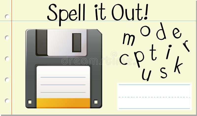 Αγγλικός δίσκος υπολογιστών λέξης περιόδου ελεύθερη απεικόνιση δικαιώματος