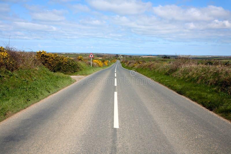 αγγλικός δρόμος χωρών στοκ φωτογραφία