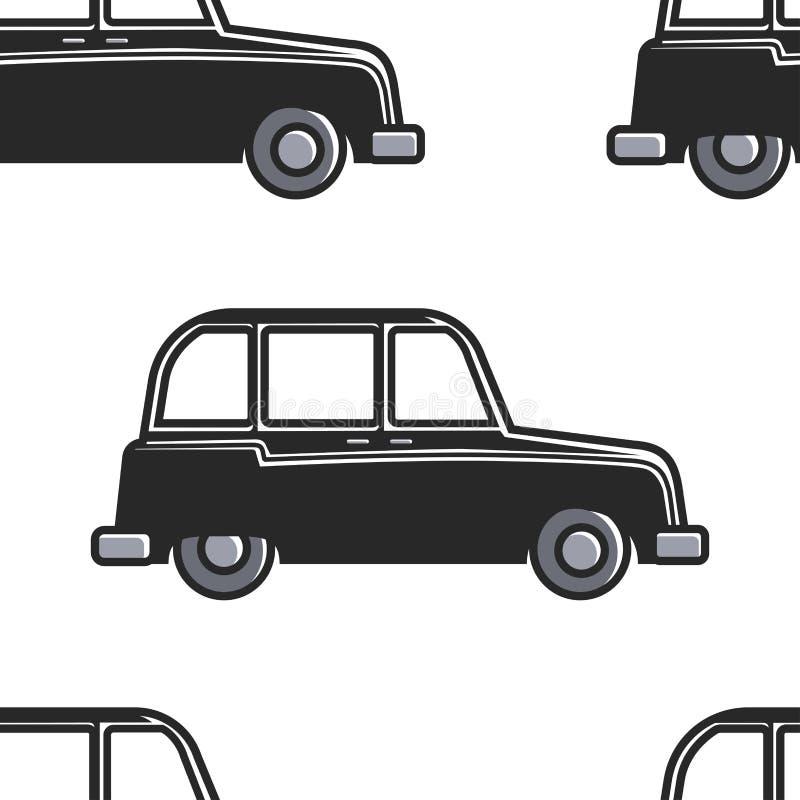 Αγγλικό αυτοκίνητο σχεδίων αμαξιών άνευ ραφής ή σύμβολο του Λονδίνου  ελεύθερη απεικόνιση δικαιώματος