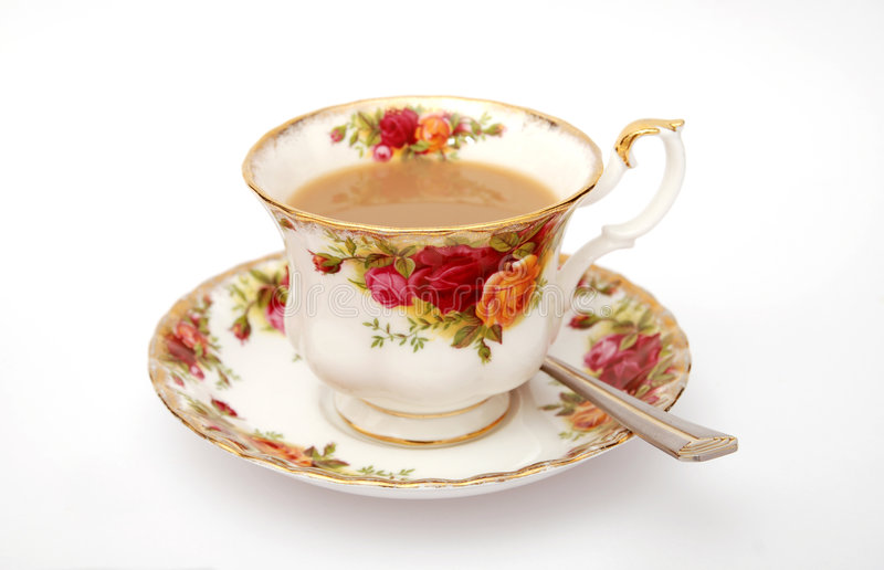 αγγλικό τσάι φλυτζανιών παραδοσιακό στοκ φωτογραφία με δικαίωμα ελεύθερης χρήσης