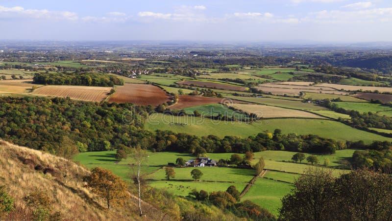 Αγγλικό vista επαρχίας στοκ εικόνα με δικαίωμα ελεύθερης χρήσης
