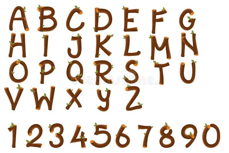 Αγγλικοί αλφάβητο και αριθμοί διανυσματική απεικόνιση