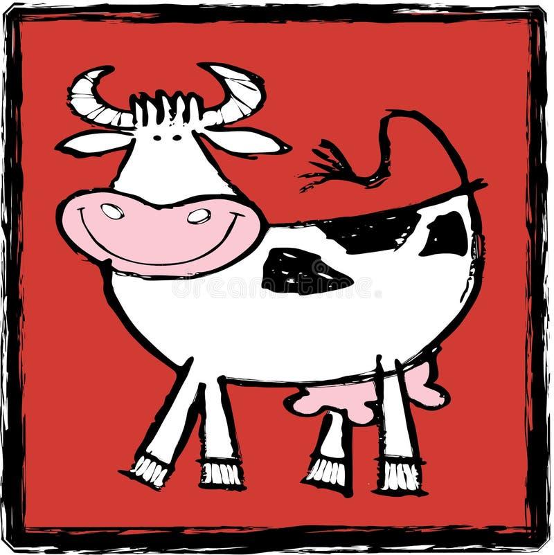 αγελάδα ευτυχής ελεύθερη απεικόνιση δικαιώματος