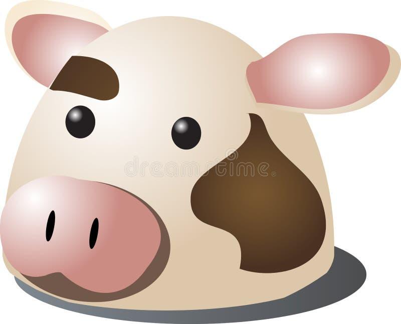 αγελάδα κινούμενων σχεδίων διανυσματική απεικόνιση