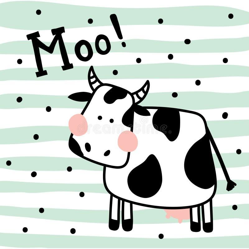 Αγελάδα ελεύθερη απεικόνιση δικαιώματος
