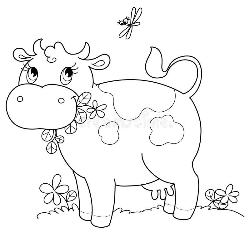 αγελάδα bw χαριτωμένη ελεύθερη απεικόνιση δικαιώματος