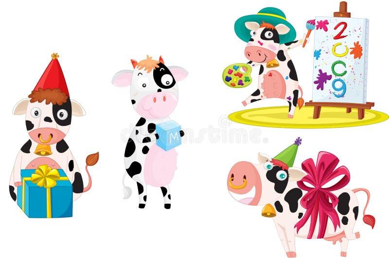 αγελάδες ελεύθερη απεικόνιση δικαιώματος