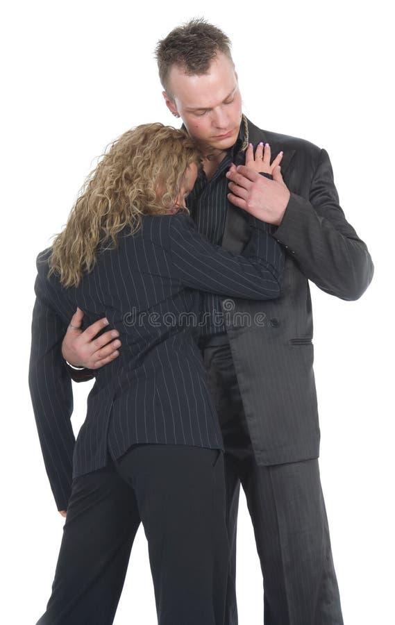 αγκάλιασμα επιχειρησι&alpha στοκ φωτογραφία με δικαίωμα ελεύθερης χρήσης