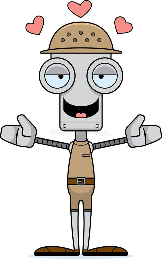 Αγκάλιασμα ρομπότ Zookeeper κινούμενων σχεδίων απεικόνιση αποθεμάτων