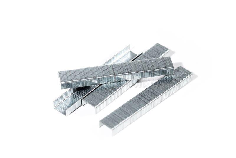 Αγκράφα συνδετήρων χαρτικών για stapler στοκ φωτογραφία με δικαίωμα ελεύθερης χρήσης