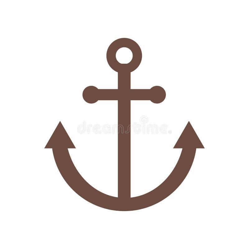 Αγκύρων σημάδι και σύμβολο εικονιδίων διανυσματικό που απομονώνονται στο άσπρο υπόβαθρο, έννοια λογότυπων αγκύρων απεικόνιση αποθεμάτων