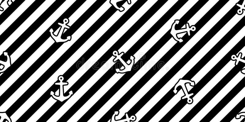 Αγκύρωση αρμονικών λωρίδων τύπου αρθρωτό πειρατικό σκάφος πηδάλιο Ναυτικός ωκεανός επανάληψη ταπετσαρίας ταπετσαρίας απομονωμένο  ελεύθερη απεικόνιση δικαιώματος