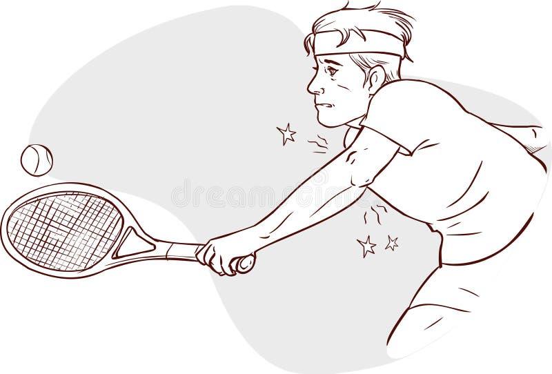 Αγκώνας αντισφαίρισης διανυσματική απεικόνιση