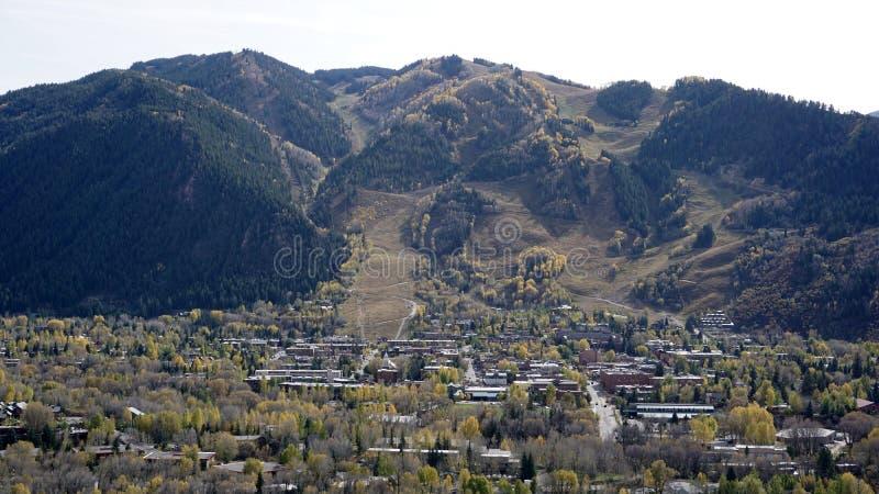 Αγνοήστε της πόλης της Aspen στοκ εικόνα