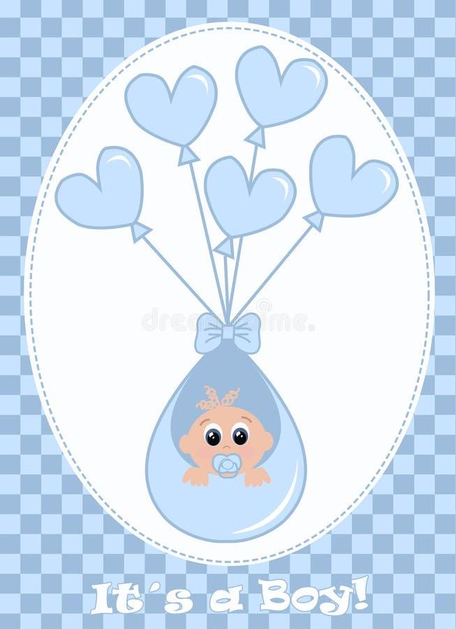 αγοράκι νεογέννητο διανυσματική απεικόνιση
