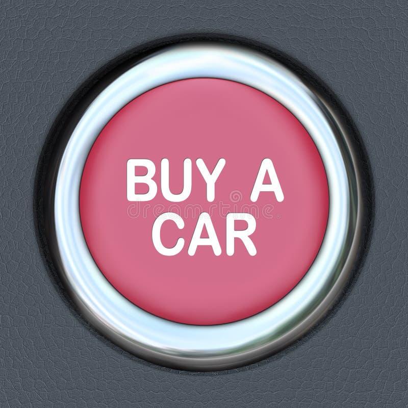 Αγοράστε μια περιοδεία έναρξης κουμπιών ώθησης αυτοκινήτων ψωνίζοντας για το όχημα διανυσματική απεικόνιση