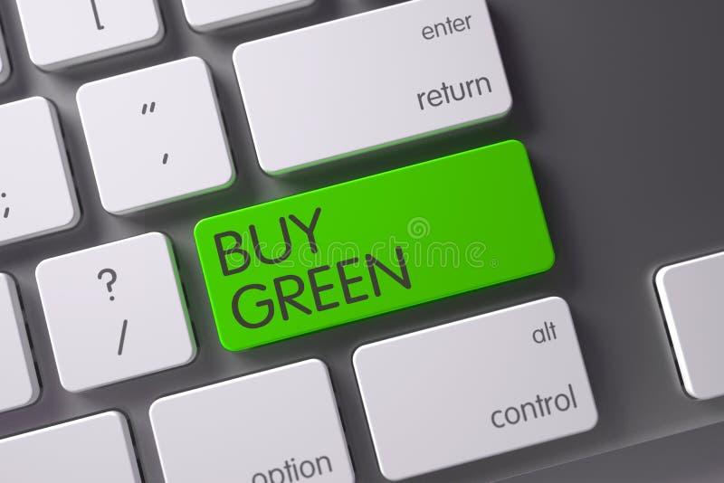 Αγοράστε την πράσινη κινηματογράφηση σε πρώτο πλάνο του πληκτρολογίου τρισδιάστατη απεικόνιση απεικόνιση αποθεμάτων