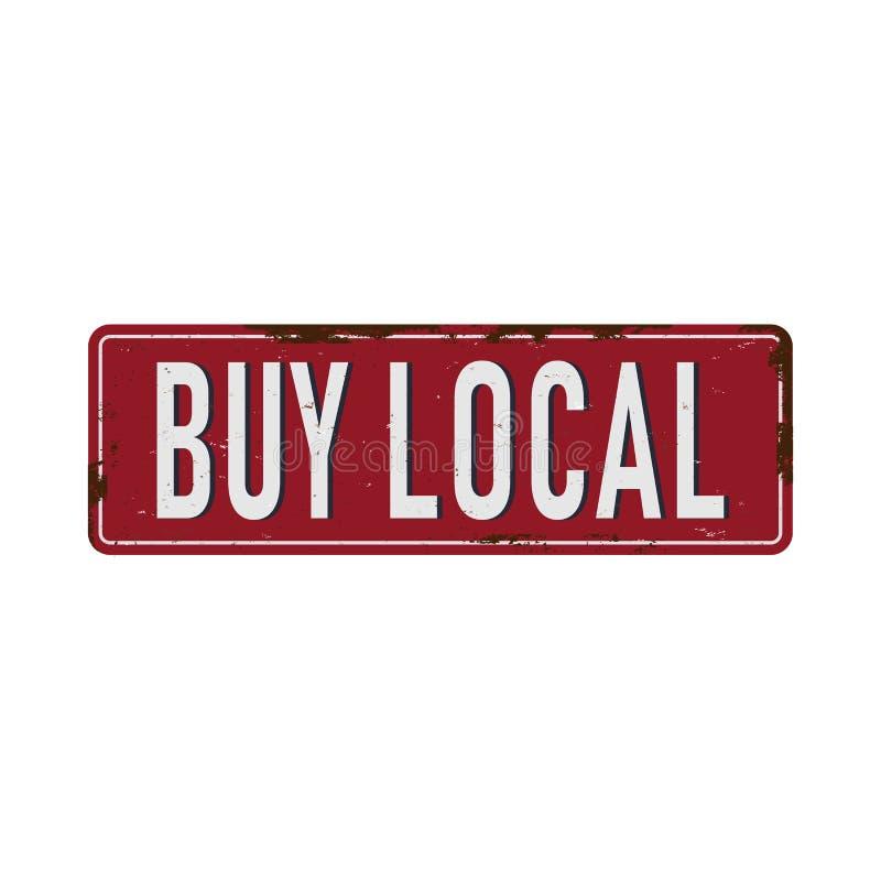 Αγοράστε την τοπική εκλεκτής ποιότητας σκουριασμένη διανυσματική απεικόνιση σημαδιών μετάλλων στο άσπρο υπόβαθρο διανυσματική απεικόνιση