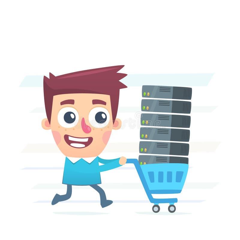 Αγοράστε τη φιλοξενία απεικόνιση αποθεμάτων