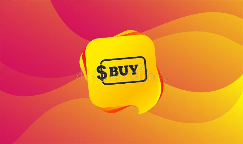 Αγοράστε το εικονίδιο σημαδιών Σε απευθείας σύνδεση κουμπί δολαρίων αγοράς διάνυσμα διανυσματική απεικόνιση