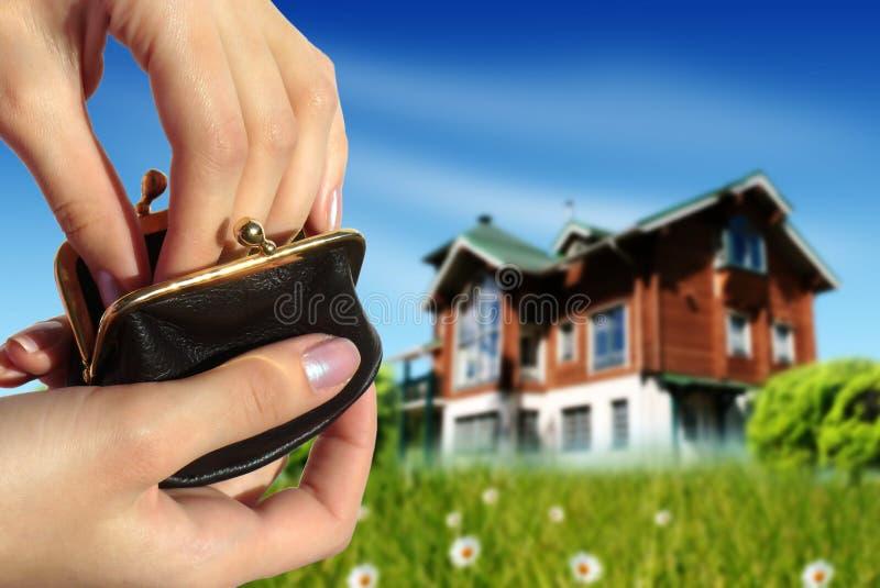 αγοράστε το σπίτι έννοιας νέο στοκ φωτογραφία