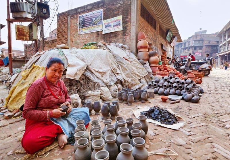 Αγορά αγγειοπλαστικής Bhaktapur στοκ εικόνα με δικαίωμα ελεύθερης χρήσης