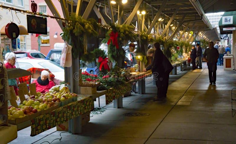 Αγορά αγροτών πόλεων Roanoke στοκ εικόνες