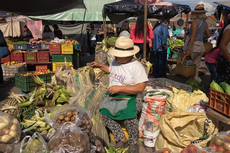 Αγορά αγροτών Villa de Leyva Κολομβία στοκ εικόνες