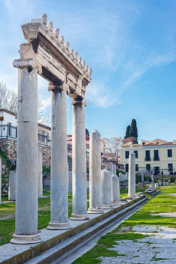 αγορά αρχαία Αθήνα στοκ εικόνες με δικαίωμα ελεύθερης χρήσης