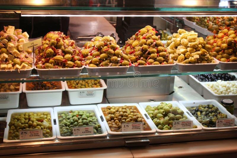 Αγορά ελιών στοκ φωτογραφία με δικαίωμα ελεύθερης χρήσης